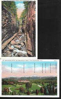 image of Views of Mt. Washington, NH on 2 White Bordered Postcards - ca. 1930s-40s