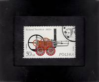Framed Postage Stamp Mini-Art -Richard Trevithick\'s Steam Engine