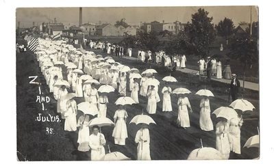 Women Hold Early Protest for Voting...