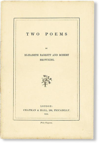 London: Chapman & Hall, 1854. First Edition. Small octavo (20cm.); publisher's side-stitched cream p...