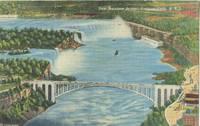 New Rainbow Bridge, Niagara Falls, New York unused linen Postcard