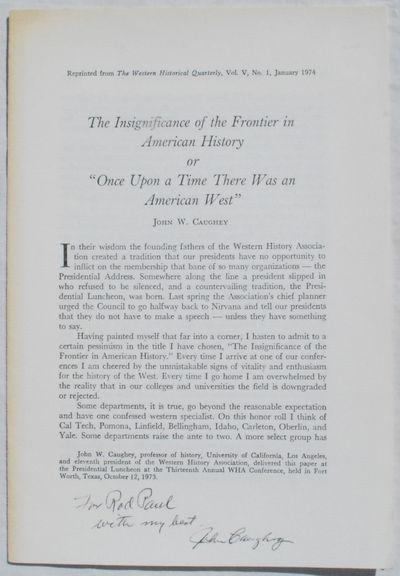 Oxford:: Oxford University Press,, 1974. Paperback. Very Good. Series: The Western Historical Quarte...