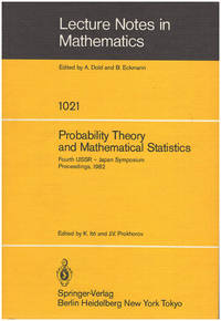 Probability Theory and Mathematical Statistics: Proceedings of the Fourth USSR-Japan Symposium (Lecture Notes in Mathematics 1021)