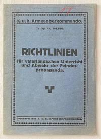 image of Richtlinien für vaterländischen Unterricht und Abwehr der Feindespropaganda