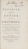 View Image 1 of 2 for A Treatise on the Action of Ejectment. Second Edition, London, 1781 Inventory #71506