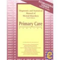 image of Diagnostic & Statistical Manual of Mental Disorders: Primary Care Dsm-IV-PC International