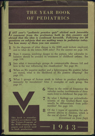 Chicago: Year Book Publishers, 1944. First edition. Cloth with gilt title. A very good+ copy in a ve...