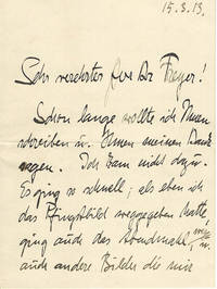 """Early & Important Autograph Letter by Emile Nolde, Branded a """"Degenerate"""" Artist by the Nazis"""