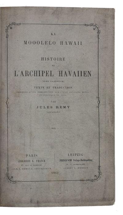 Ka Mooolelo Hawaii[.] Histoire de...