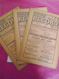 THE BEE-KEEPERS' RECORD A Monthly Journal devoted to Practical Bee-Keeping. A Run of Nine Monthly Parts, Nos. 300 - 308. Volume XXXIII. January 1915 - September 1915