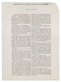 image of Objections to Woman Suffrage Answered