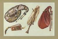 Calabrian Bagpipes. Original Chromolithograph. Musical Instruments; Historic, Rare and Unique