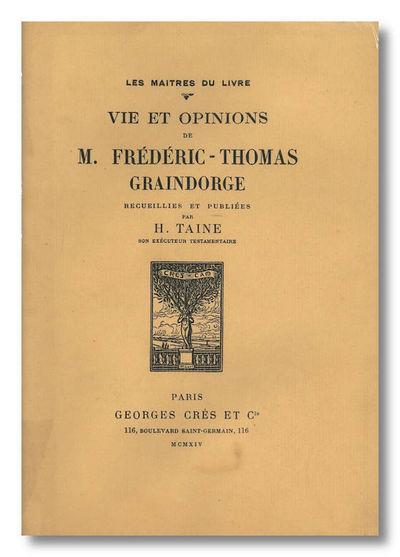 Paris: Georges Crès et Cie / Les Maitres du Livre, 1914. Printed wrappers. Portrait. Edited, with p...