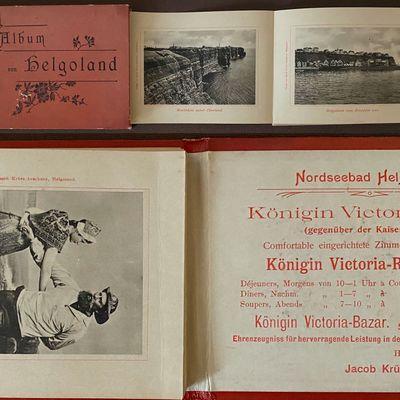 Helgoland, : Jacob Kruss-Aeuckens, 1896. Boards. Very good +. 3 7/8