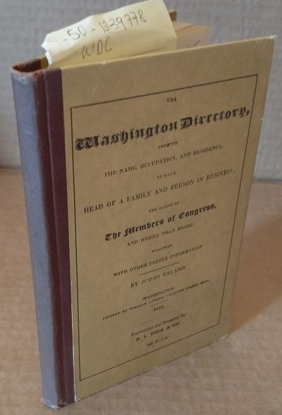 Washington: William Duncan, 1822. facsimile edition. 12mo in brown hardcovers with burgundy cloth sp...
