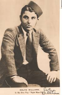 image of Postcard photo signed, (Emlyn, 1905-1987, Actor and Playwright)