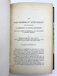 """image of """"On cases described as 'acute rickets' which are probably a combination of scurvy and rickets, the scurvy being an essential, and the rickets a variable, element."""" In: Medico-Chirurgical Transactions. Volume 66"""