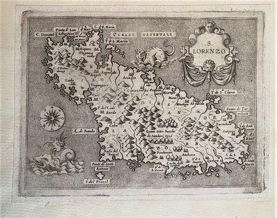 1576 MAP OF L�ISOLA DI SAN LORENZO