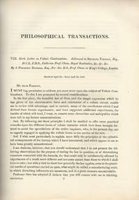 DANIELL CELL: Sixth Letter on Voltaic Combinations (Philosophical Transactions of the Royal...