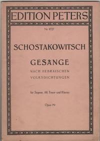 Gesänge Nach Hebraischen Volksdichtungen Ein Zyklus Fur Sopran, Alt Und  Tenor Mit Klavierbegleitung . Opus 79