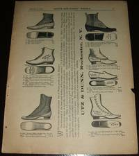 image of Original 1892 Full Page Illustrated Shoe Advertisement Utz & Dunn