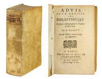 Advis pour dresser une Bibliothèque. Presenté à Monseigneur le President de Mesme. [with] Jacob, P. Louis, Traicté des plus belles Bibliothèque publiques et particulières...