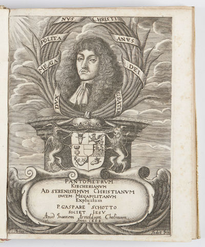 Added engraved title (with the arms & port. of the dedicatee, Christian Ludwig I, Duke of Mecklenbur...