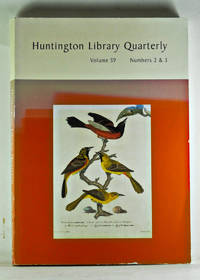 Huntington Library Quarterly: Studies in English and American History and Literature. Volume 59, Numbers 2 & 3. Art and Science in America: Issues of Representation