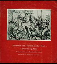 Nineteenth and Twentieth Century Prints Contemporary Prints (December 18 and 19, 1979)