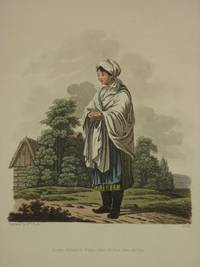 The Costume of the Hereditary States of The House of Austria: Original 1817 Bertrand De Moleville Hand Coloured Engraving - Plate 42: A Countrywoman of the Mountains of Moravia [Czech Republic]