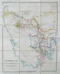 Van Diemens Land.  Folding map on linen