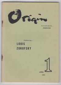 Origin 1 (Second Series) (April 1961) - featuring Louis Zukofsky