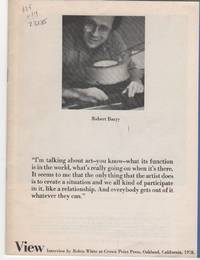 Robert Barry. View interview by Robin White