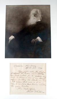 Manuscript letter and portrait