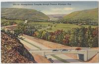 Pennsylvania Turnpike Through Famous Aliquippa Gap 1942 used linen Postcard