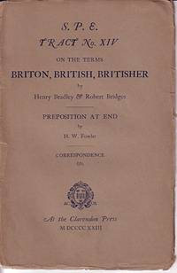 S. P. E. Tract No. XIV on the Terms Briton, British, Britisher / Preposition At End
