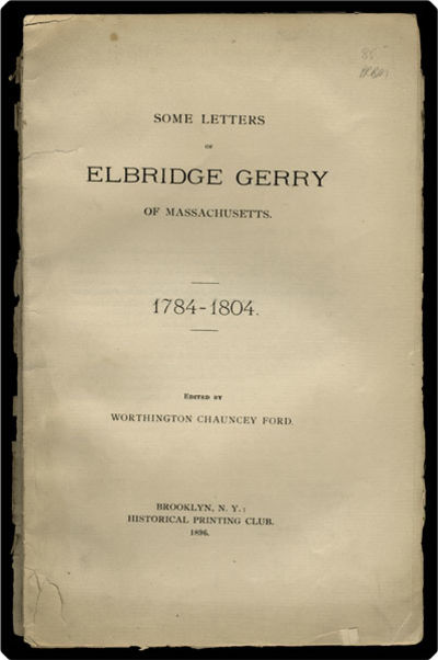 Brooklyn, NY: Historical Printing Club, 1896. 8vo. 28 pp., p. First edition. Letters concern Indians...