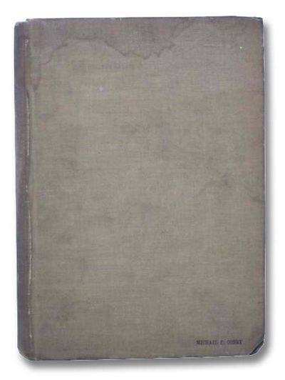 Government Printing Office, 1910. Large Hardcover. Good/No Jacket. Loss to spine head and to spine b...