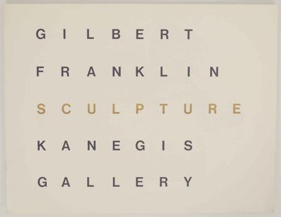 Boston, MA: Kanegis Gallery, 1968. First edition. Oblong softcover. 8 pages. Exhibition catalog for ...