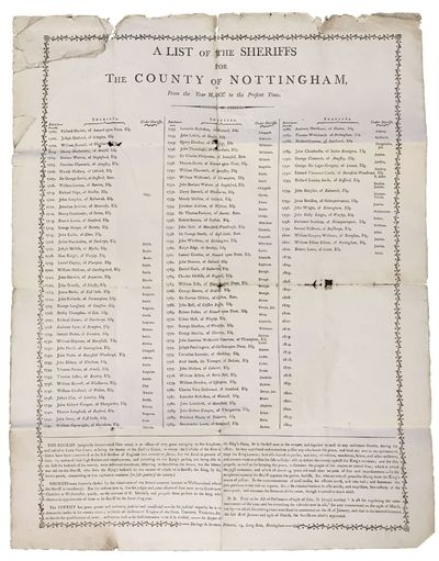 Nottingham: Burbage & Stretton, Printers, 14, Long Row, 1802. 1st printing thus. Stored folded, and ...