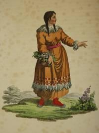 The Costume of the Russian Empire 1811. Original Hand Coloured Engraving by John Dadley (after Johann Gottlieb Georgi). Plate LVI: A Female Koriak [Koryak/Siberia]