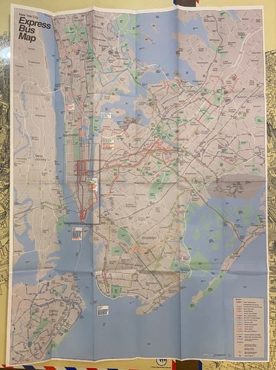 New York: Department of Transportation, 1995. unbound. Map. Page unfolded measures 32 1/4