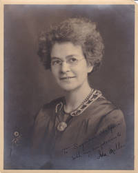 ORIGINAL SILVER PRINT PHOTOGRAPH BY FARR OF AMERICAN BIOLOGIST AND ICHTHYOLOGIST IDA MELLEN INSCRIBED AND SIGNED BY HER.