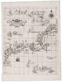 A SUPERB EXAMPLE OF THE FIRST PRINTED SEA CHART OF NEW ENGLAND AND NEW NETHERLANDS [BURDEN] Carta particulare della nuova Belgia e parte della nuova Anglia