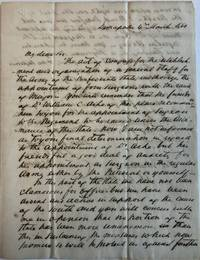 AUTOGRAPH LETTER SIGNED, FROM F.S. LYON OF DEMOPOLIS, TO GOVERNOR A.B. MOORE, 4 MARCH 1861, RECOMMENDING THE APPOINTMENT OF DR. WILLIAM C. ASHE AS SURGEON TO THE REGIMENT WITH RANK OF MAJOR