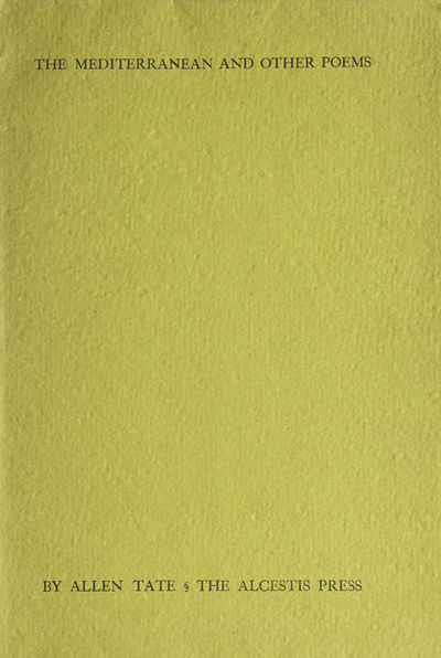 New York: The Alcestis Press, 170 Broadway, 1936. First edition, #59 of 165 signed copies on Strathm...