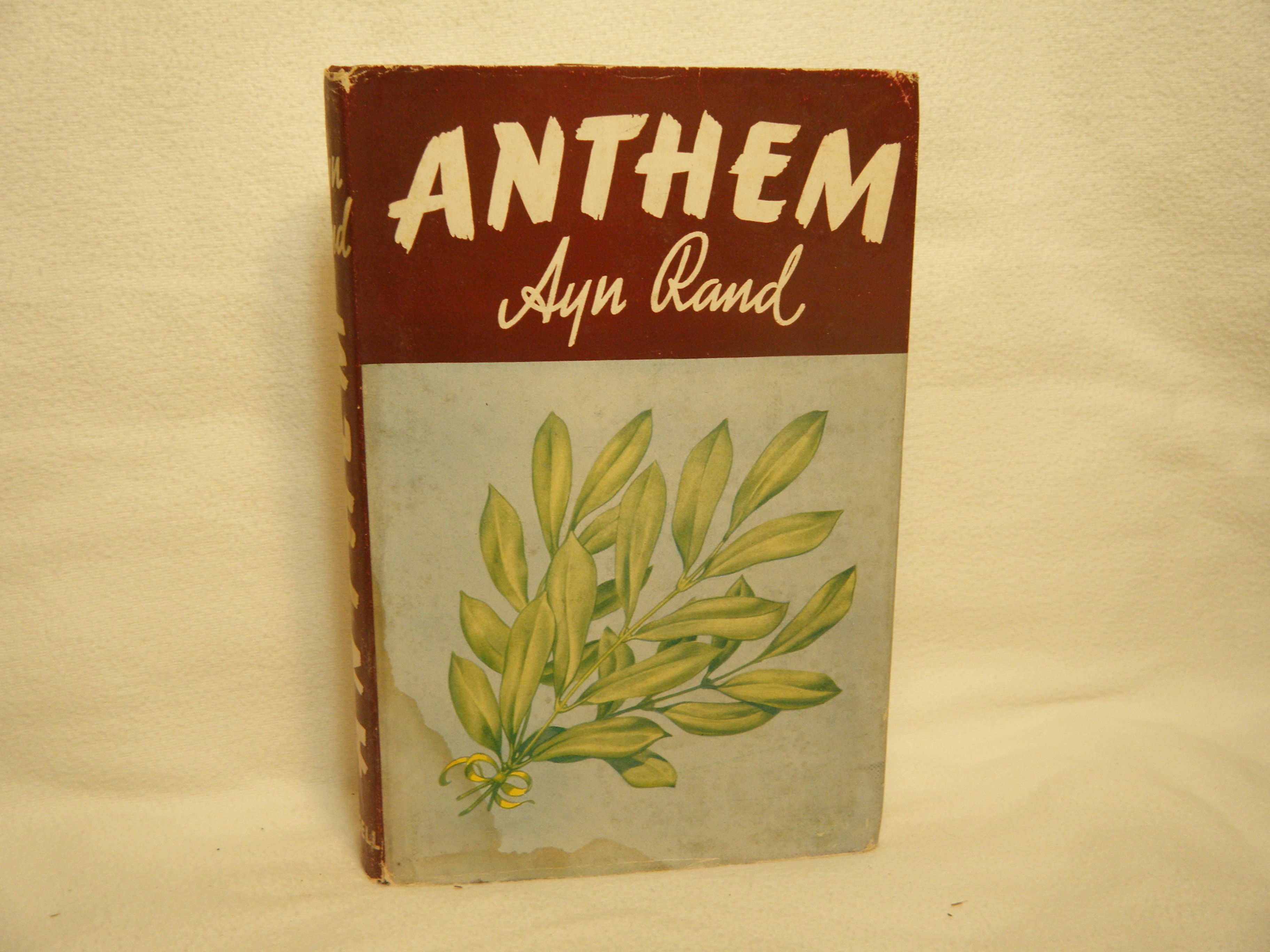 Anthem By Ayn Rand Hardcover 1953 From Curtis Paul Books Inc