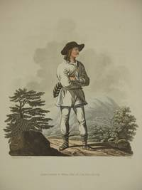 The Costume of the Hereditary States of The House of Austria: Original 1811 Bertrand De Moleville Hand Coloured Engraving - Plate 41: A Moravian Mountaineer, Near the Confines of Hungary [Moravia, Czech Republic]