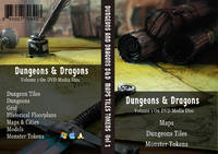 Dungeons And Dragons, Maps, Tiles and Tokens Collection. / D&D, / RPG, / Dungeon Master, / Maps, / Dungeons, / Dungeons Tiles, / Monster Tokens, / Books on USB Flash Drive / With DVD Case. Volume 1
