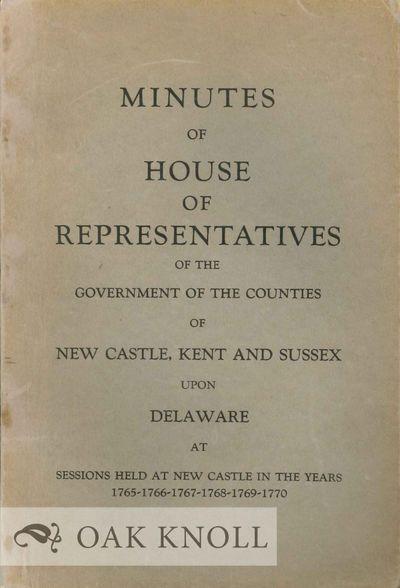 Dover: The Public Archives Commission, 1931. stiff paper wrappers. Delaware. 8vo. stiff paper wrappe...
